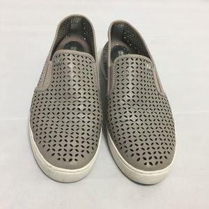 Michael Kors gray cutout Slip on sneakr sz 9